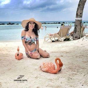 BEACH BUNNY Bikini <Top Only> Sz L (D)